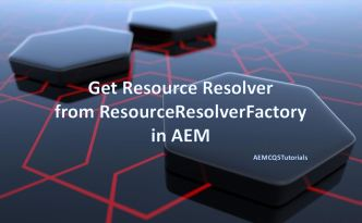 get resourceresolver from resourceresolverfactory aem