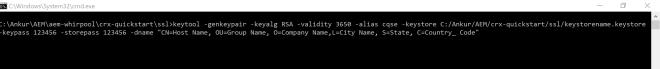 generate-keystore-certificate-aem