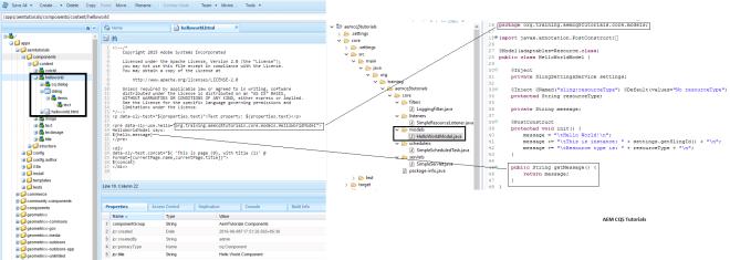adapt node values to pojo class aem