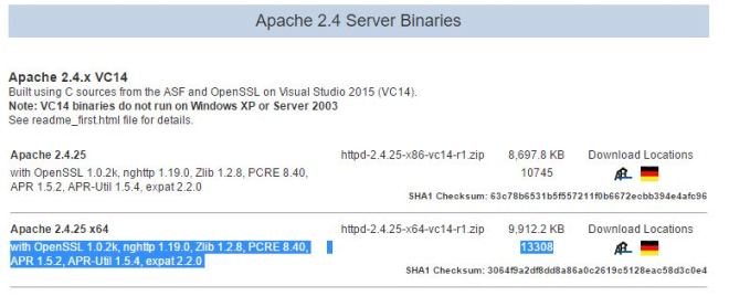 download apache webserver msi file