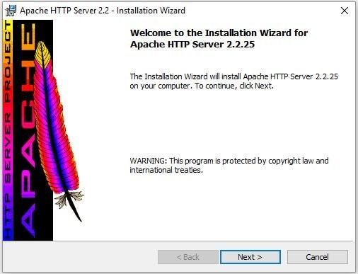 install apche webserver aem