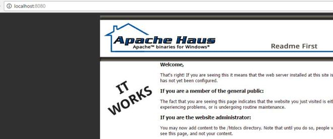 test apache webserver installation