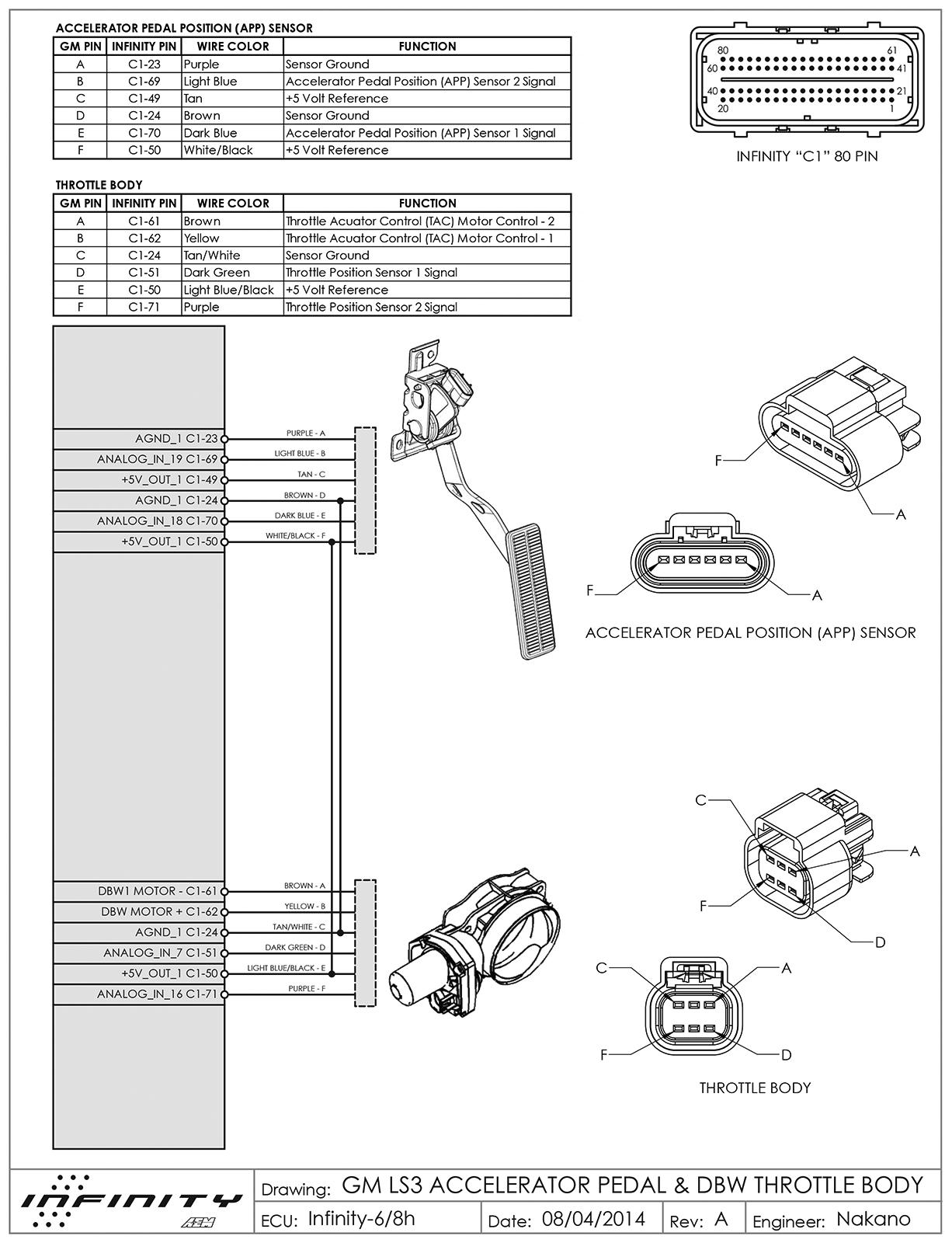Pontiac Tps Wiring Aem Infinity 6 And Nissan 350z Vq35de Dbw Aem