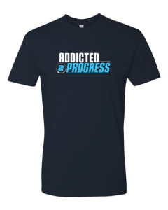 Addicted 2 Progress T Shirt Blue