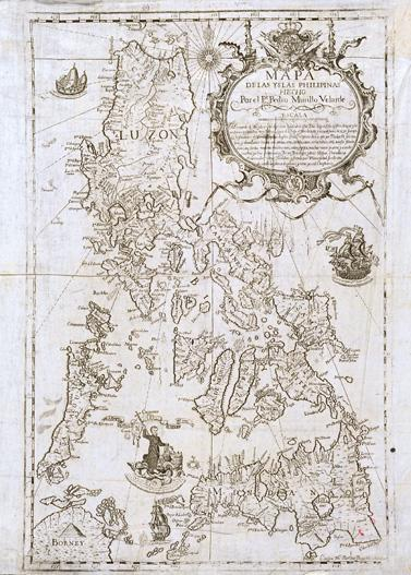 Mapa de las Islas Filipinas