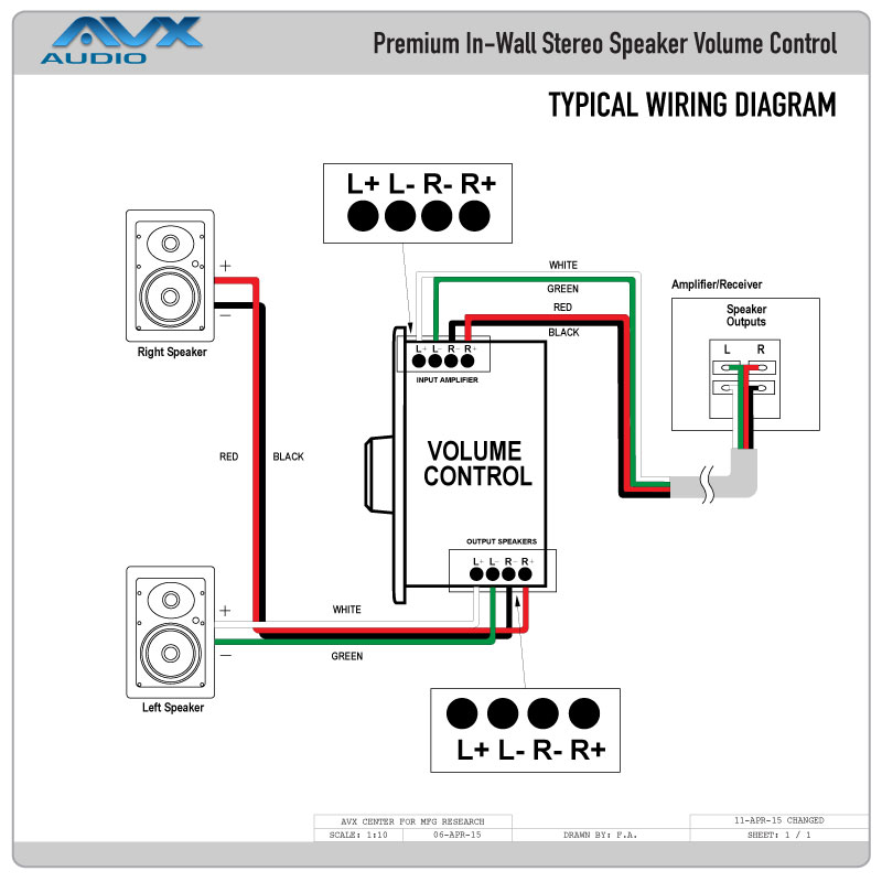 In Wall Speaker Volume Control Wiring Wiring Diagrams