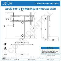 TV Wall Mount With Shelf | TV Mounts | AV Express
