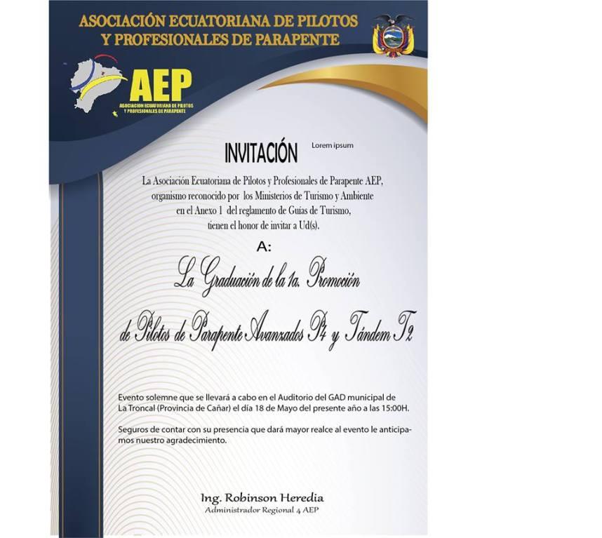 Graduación 1ra promoción pilotos avanzados P4 y T2 / AEP-APPI