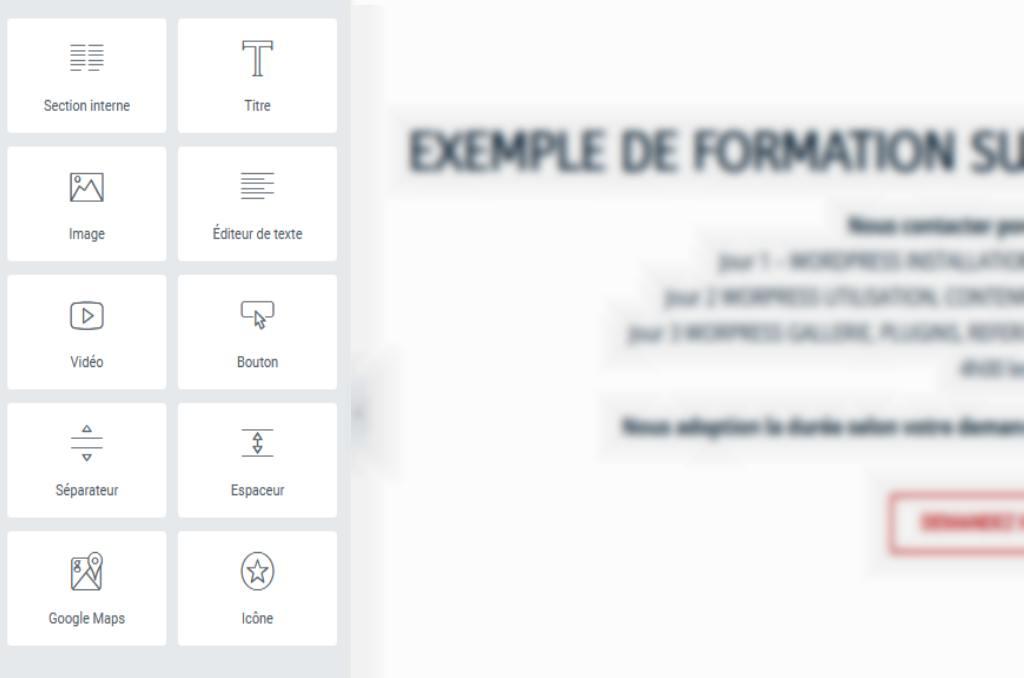 création de site avec Elementor