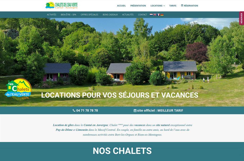 Site Internet Hébergement Chalets Bort les Orgues