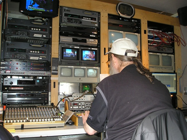 Jim At work in the TVCOGECO Mobile unit