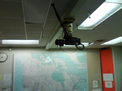 Video Camera at the Deifenbunker.
