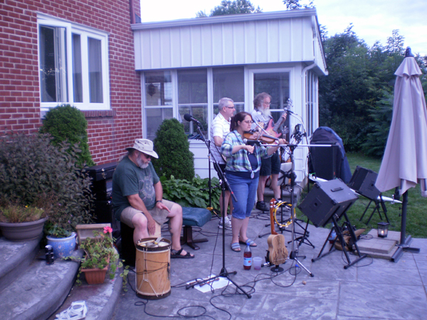 """Celtic C"" performing at our friend Scott's Birthday Party."