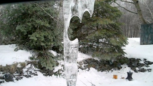 Interesting Shaped Icicle