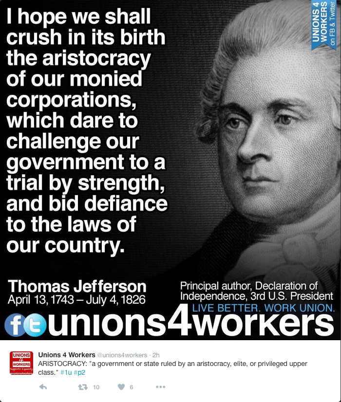 Jefferson versus Corporations.