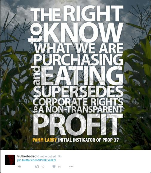 Anti-GMO quote.