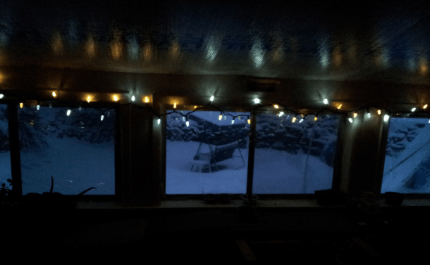 Early Morning Porch Lights.