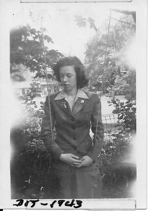Mom on a swing in 1943