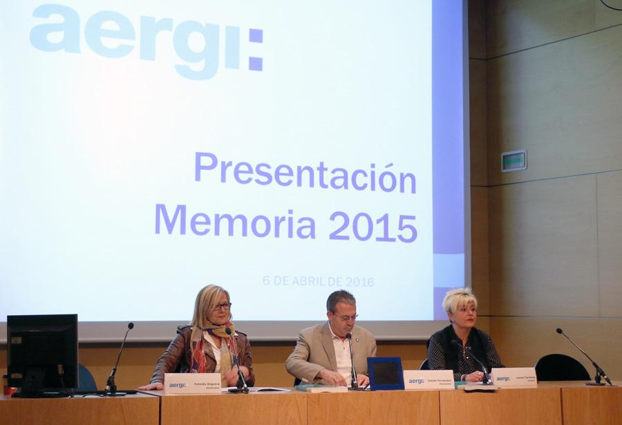 AERGI crece en número de terapias y asistencias [Memoria 2015]
