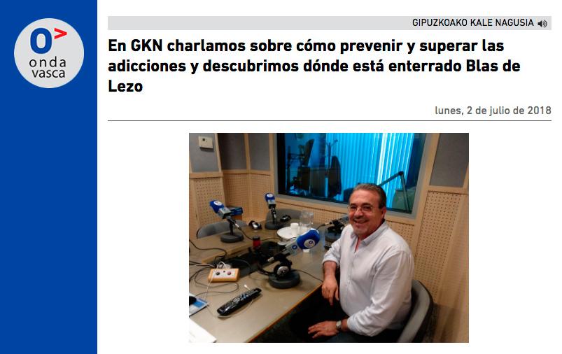 Cómo prevenir y superar las adicciones. Entrevista en Onda Vasca