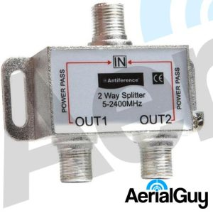 AerialGuy - Antiference 2 Way Indoor Splitter