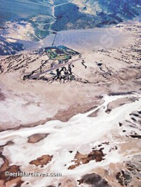 Furnace Creek Airport, Death Valley Stock Aerial Photography