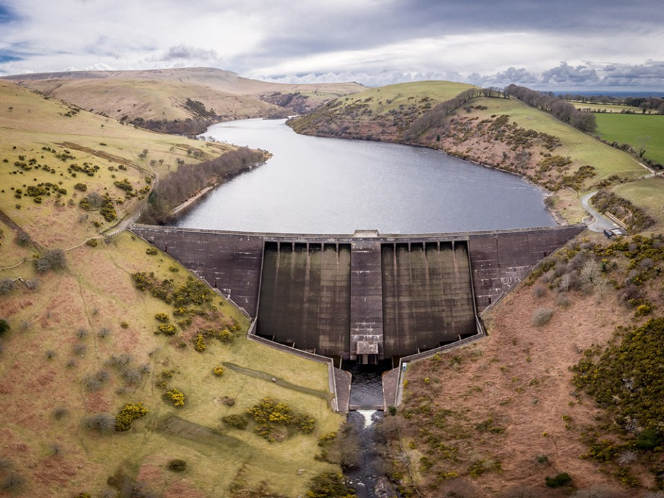 Aerial Filming: Meldon Reservoir, situated just next to Okehampton