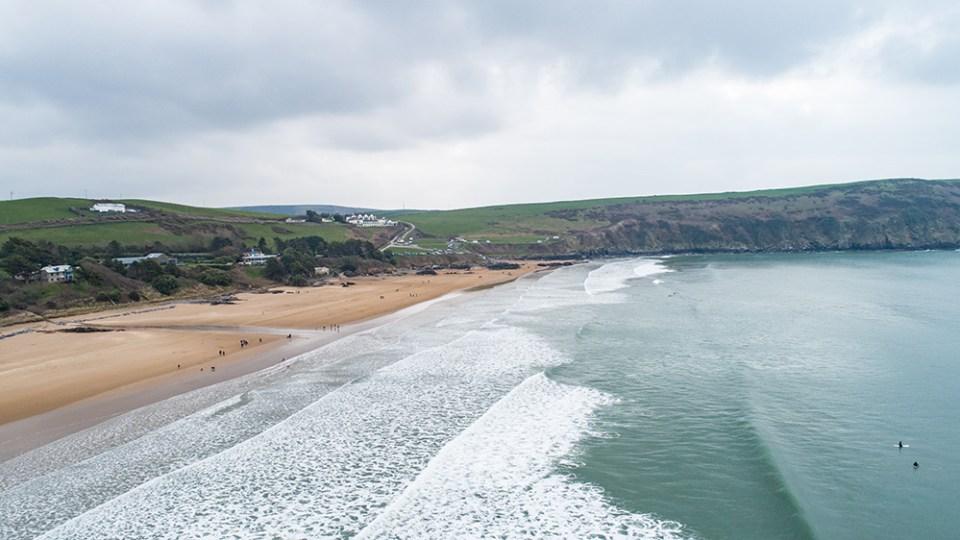Aerial filming North Devon: Putsborough Beach from Aerial Media Services
