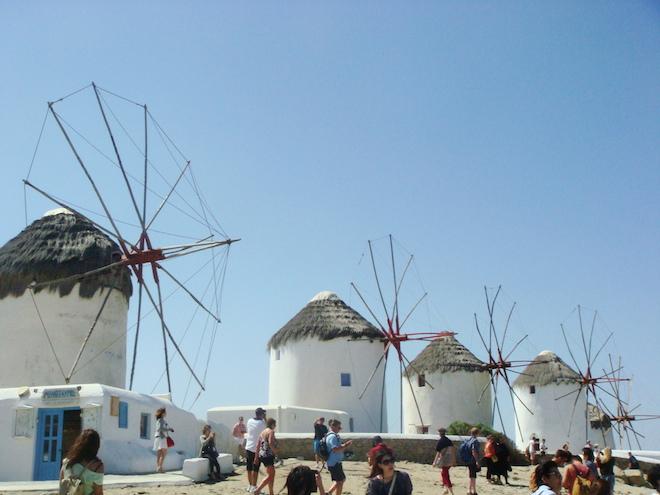 Famous Windmills of Mykonos