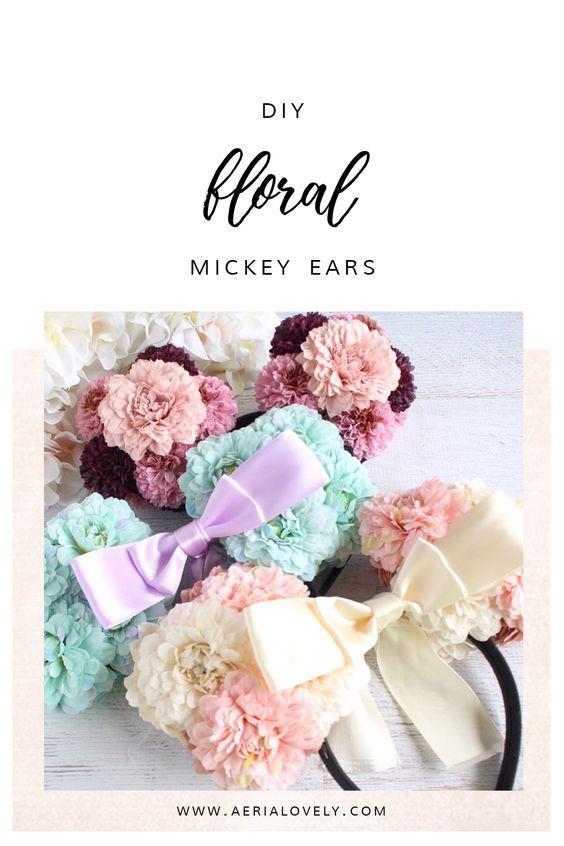 diy floral mickey ears