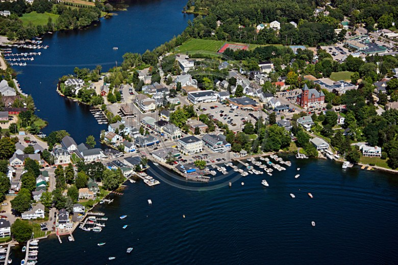 Aerial Photo NH | Wolfeboro | Wolfeboo Lakeside