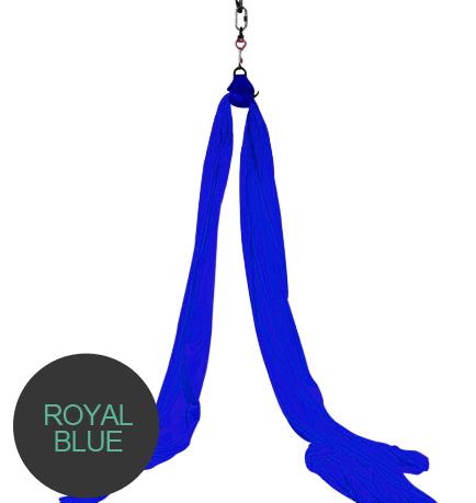aerial silks royal blue