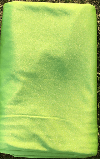 grass green aerial silk
