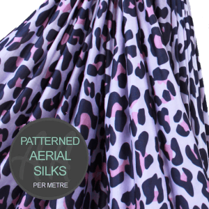 Pink Wild Cat Aerial Silks Per Metre