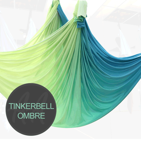 TINKERBELL GREEN YELLOW OMBRE AERIAL YOGA HAMMOCKS FOPR SALE