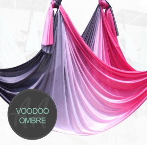 VOODOO BLACK RED OMBRE AERIAL YOGA HAMMOCKS