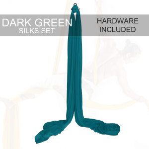 Dark Green Aerial silks for sale