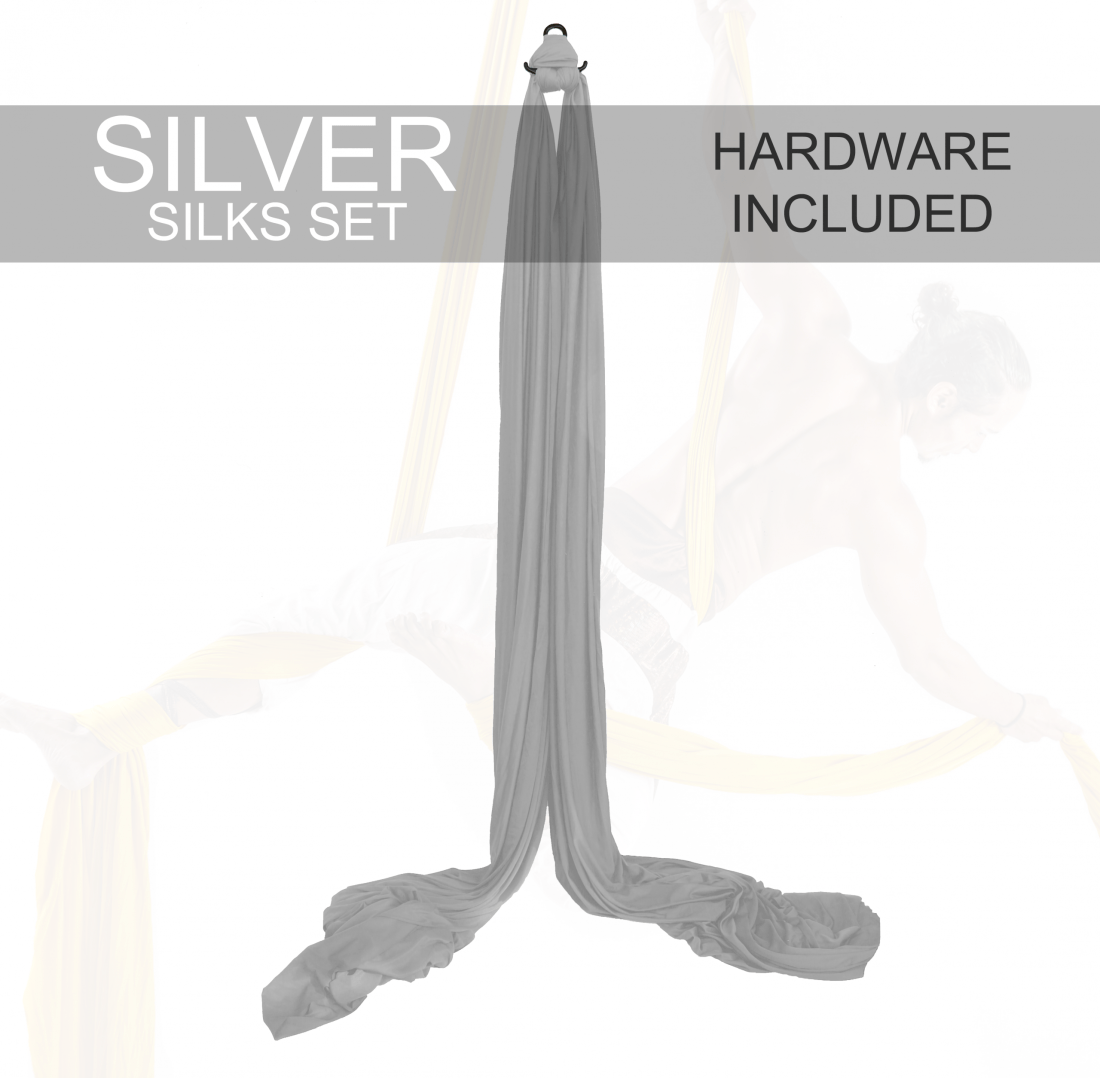 silver Aerial Silks For Sale