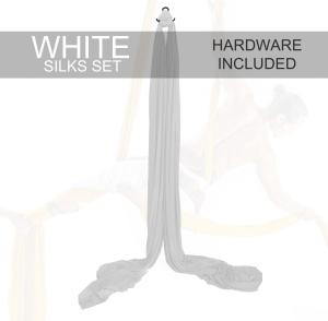 white aerial silks for sale