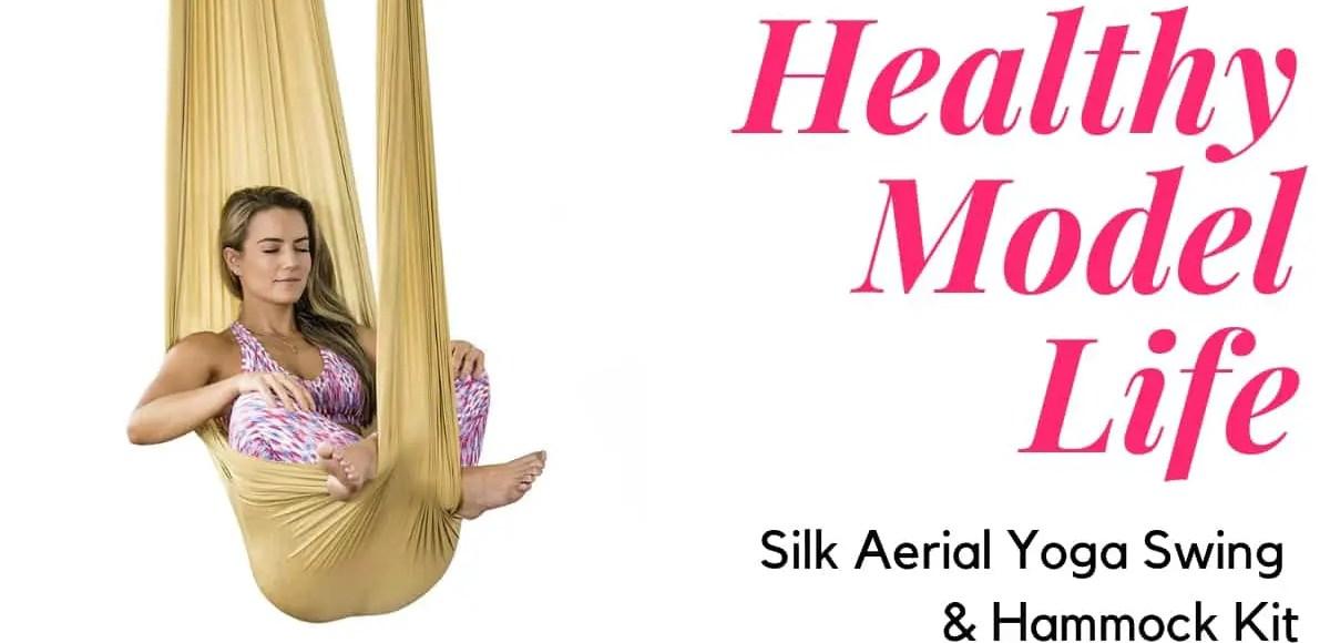 Healthy Model Life Silk Aerial Yoga Swing & Hammock Kit
