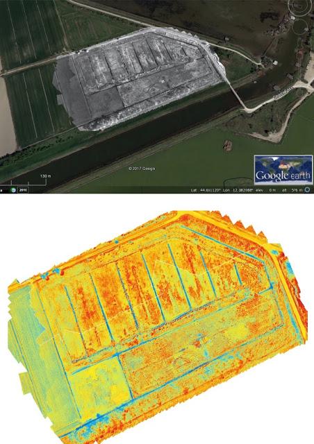 Rilevazioni aeree per la mappatura degli accumuli d'acqua