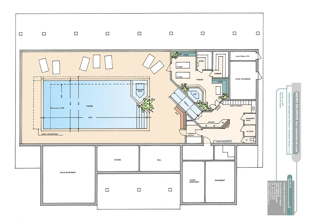 Plan dune maison pour handicape for Plan piscine