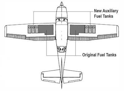 Sierra Long Range Fuel Tank Mod Approved for Soloy Cessna
