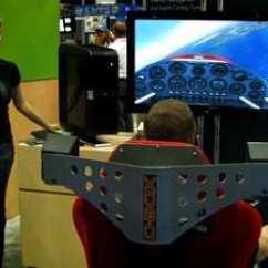 Flight Simulator Chair Motion Kids Table Amd Chairs D-box/voodoo/hp: Aero-tv Checks Out What May Be The Ultimate Ms Flightsim Rig | Aero-news Network