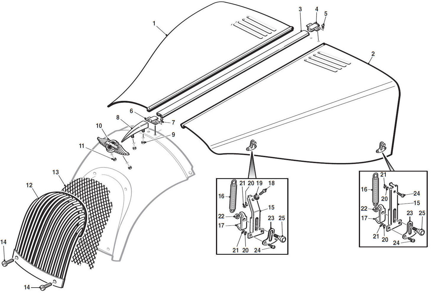 Bonnet Grill Amp Fixings