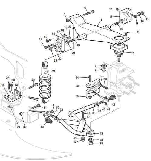 small resolution of front suspension hover over labels to view part numbers
