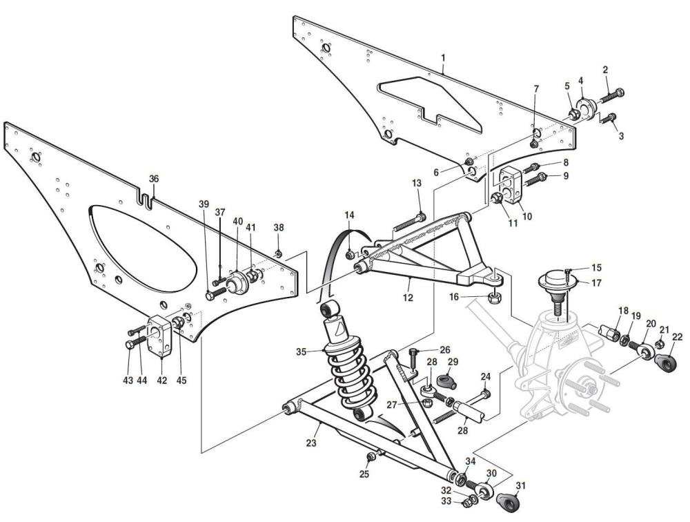 medium resolution of rear suspension hover over labels to view part numbers