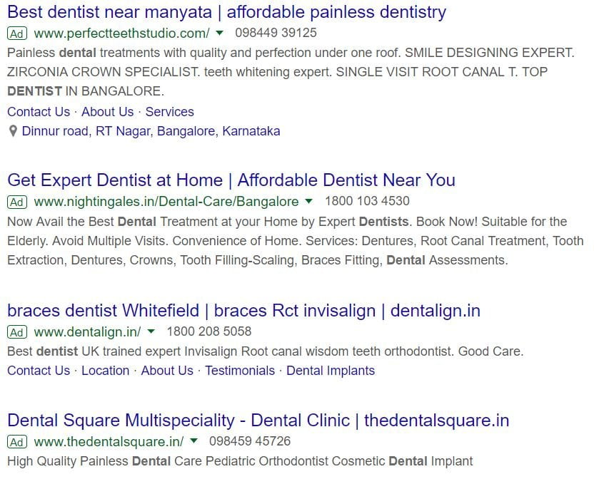 ppc ads for dentist aero business solutions