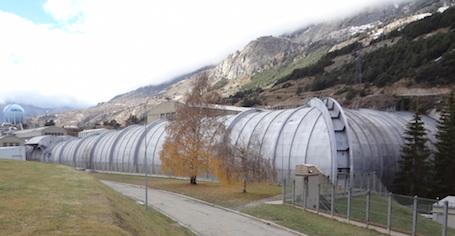 2. Vue extérieure de la très grande soufflerie S1MA de l'ONERA à Modane-Avrieux