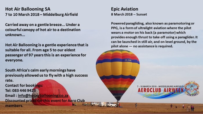 Airweek Events | The Aero Club of South Africa NPC